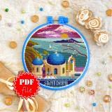 Cross stitch pattern «pdf-T-0417 Santorini»