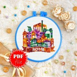Cross stitch pattern «pdf-T-0427 Rome»