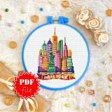 Cross stitch pattern «pdf-T-0437 New York»