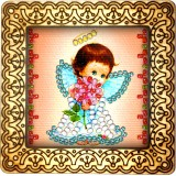 Magnet bead embroidery kit «M-0016 Little Angel»