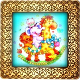 Magnet bead embroidery kit «M-0046 The Party of Toys»