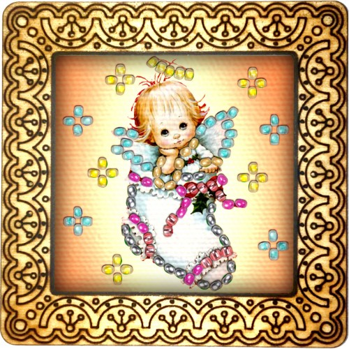 Magnet bead embroidery kit «M-0076 I am your gift»