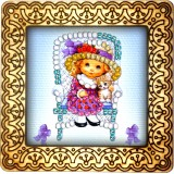 Magnet bead embroidery kit «M-0086 BFF's»