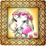 Magnet bead embroidery kit «M-0106 Baby Elephant in Pink»