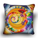 Pillow cross stitch kit «H-0003 Rainbow Lizard»
