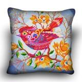 Pillow cross stitch kit «H-0023 Peppy Pink Bird»