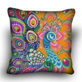 Pillow cross stitch kit «H-0033 Pensive Peacock»