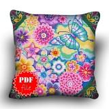 Pillow Cross stitch pattern «pdf-H-0029 Spring Garden»