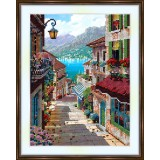 Bead embroidery kit «A-0028 Stairway to the Bay»