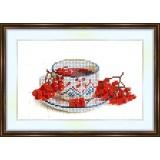 Bead embroidery kit «A-0069 Berries 'n tea»