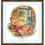 Bead embroidery kit «A-0099 Sharing His Shower»