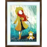 Bead embroidery kit «A-0179 The Yellow Raincoat»