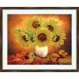 Bead embroidery kit «A-0209 Sunflower Still Life»