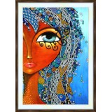 Bead embroidery kit «A-0330 Flowing Tresses»