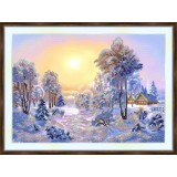Bead embroidery kit «A-0340 Winter Sunset 2»