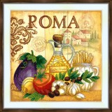 Bead embroidery kit «A-0410 Roma»