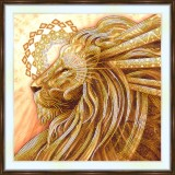 Bead embroidery kit «A-0450 Regal Lion»