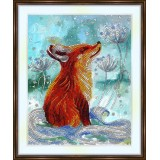 Bead embroidery kit «A-0474 Chanterelle in the Snow»