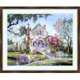 Bead embroidery kit «K-0018 Lovely Home in Spring»