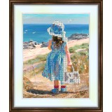 Bead embroidery kit «K-0038 Seaview from the Shore»