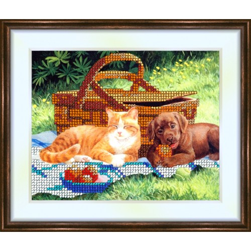 Bead embroidery kit «K-0078 The Picnic»
