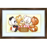 Bead embroidery kit «K-0108 The Bear's Picnic»