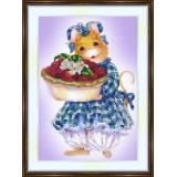 Bead embroidery kit «K-0128 Raspberry Pie»
