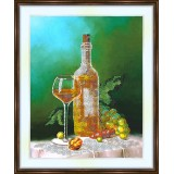 Bead embroidery kit «K-0138 A Glass of White Wine»