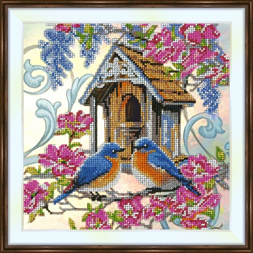 Bead embroidery kit «K-0189 Bluebird Greeting»