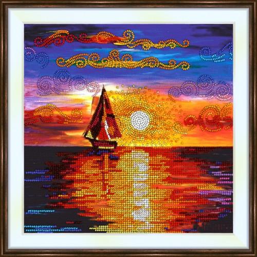 Bead embroidery kit «K-0209 Sunset at Sea»
