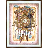 Bead embroidery kit «K-0219 Steampunk Cuckoo-Clock»