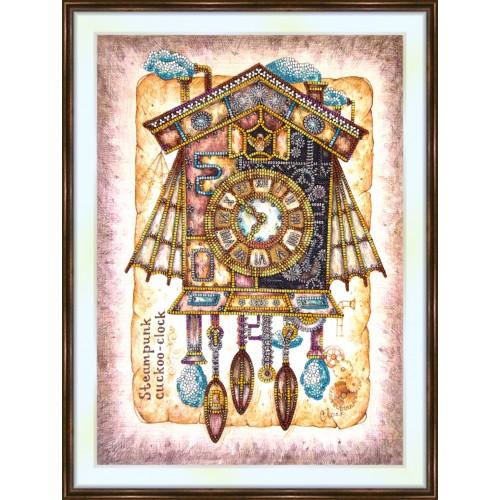 Bead embroidery kit «K-0219 Steampunk Cuckoo-Clock»