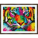 Cross stitch kit «S-0026 Rainbow Tiger»