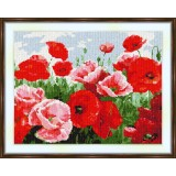 Cross stitch kit «S-0046 Bright Red Poppies»