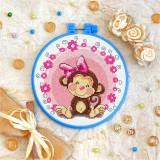 Cross stitch kit «T-0014 Miss Monkey»
