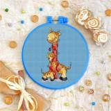 Cross stitch kit «T-0024 Red Scarfed Giraffes»