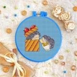 Cross stitch kit «T-0034 Baby Hedgehogs»