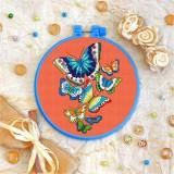 Cross stitch kit «T-0064 Butterflies»