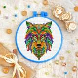 Cross stitch kit «T-0179 Mandala Wolf»