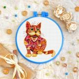 Cross stitch kit «T-0200 Mandala Red Cat»