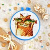 Cross stitch kit «T-0249 Cat Fisher»