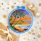 Cross stitch kit «T-0266 Palm Trees Landscape»