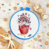 Cross stitch kit «T-0293 House in a Cup»