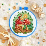 Cross stitch kit «T-0355 Mushroom House»