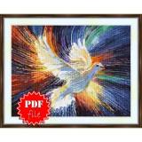 Cross stitch pattern «pdf-S-0040 Dove of Peace»