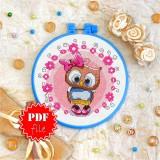 Cross stitch pattern «pdf-T-0029 Miss Owl»