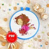 Cross stitch pattern «pdf-T-0039 Fairy in Pink»