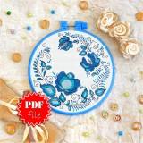 Cross stitch pattern «pdf-T-0099 Blue Ornament»