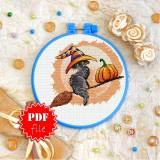 Cross stitch pattern «pdf-T-0149 Halloween Cat»