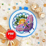 Cross stitch pattern «pdf-T-0192 Purple Butterfly»